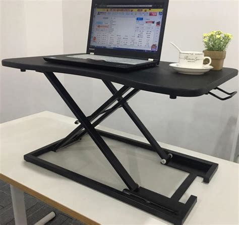 sit to stand desk converter
