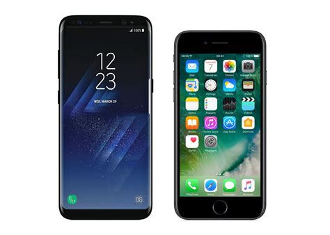 Samsung A8 Vs Iphone 5s samsung galaxy s8 vs apple iphone 7 le cor 233 en ringardise