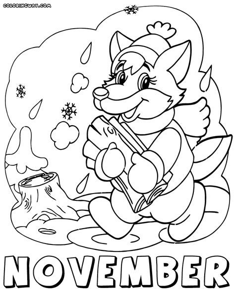 coloring page for november months coloring pages coloring pages to download and print