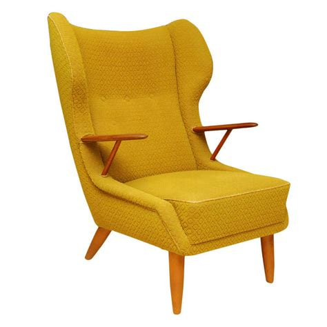 contemporary wing chair danish modern wing back armchair at 1stdibs