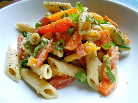 Pasta Salad Vegetarian by Colorful Vegetable Pasta Salad Health Inspirations