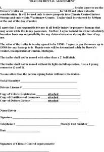 Trailer Rental Agreement Template by The Trailer Rental Agreement Can Help You Make A