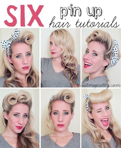 6 pin up hair tutorials pin up hair pin up and hair