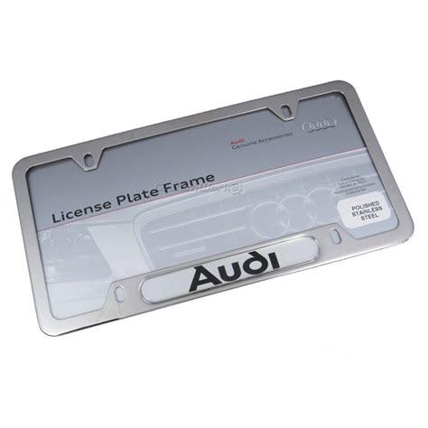 audi license plates audi logo polished license plate frame