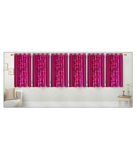 stella curtains stella creations set of 6 eyelet curtain printed pink