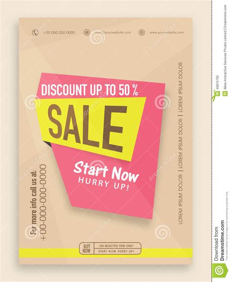 offer advertisement template sale flyer banner or template design stock illustration