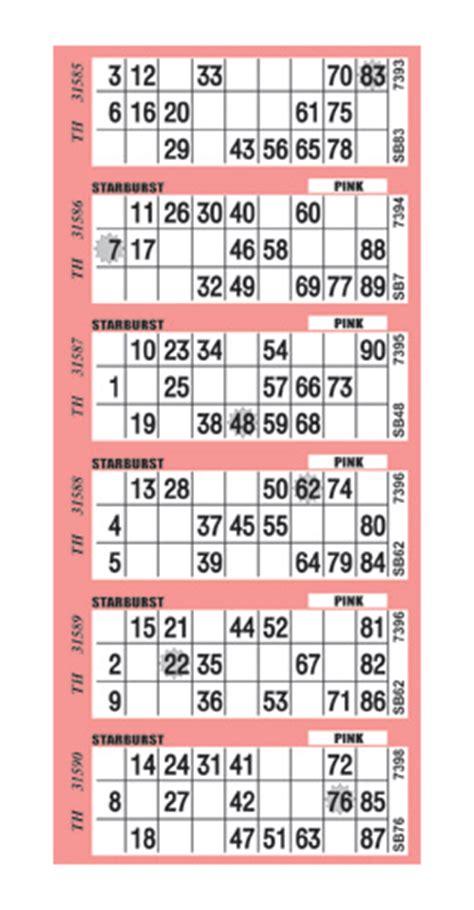 printable bingo tickets uk bingo paper gt starburst bingo arrow international