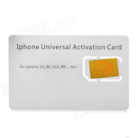 Aktivator Simcard Hk universal activation sim card for iphone 2g 3g 3gs 4 free shipping dealextreme