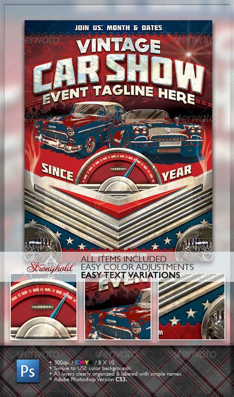 dafont molot vintage car show flyer graphicriver