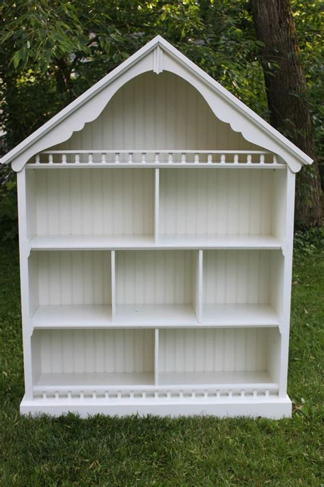 childs doll house pottery barn kids dollhouse bookcase