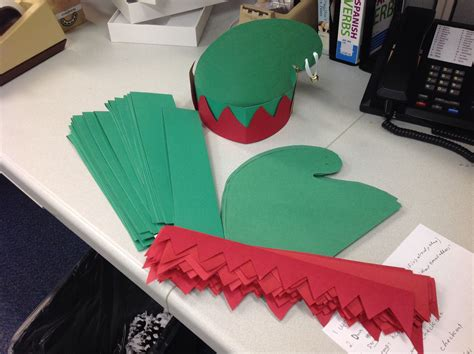 pattern for paper elf hat elf hat construction paper a poster board head band and