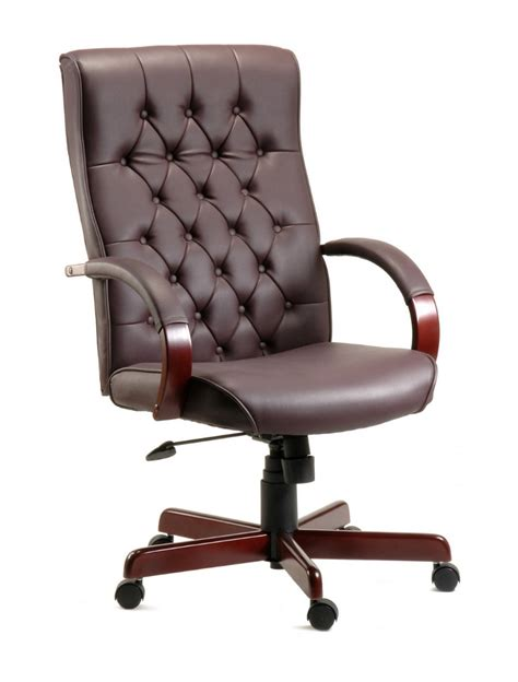 leather office armchair office chairs warwick traditional exec leather chair b8501