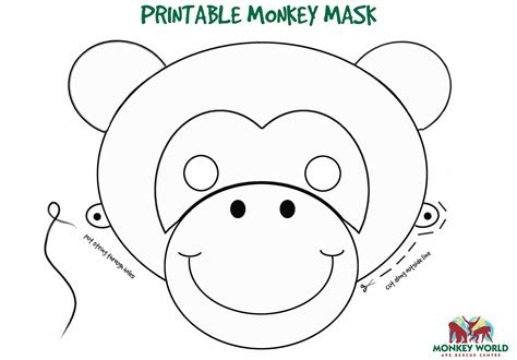 monkey mask template free coloring pages of monkey mask for