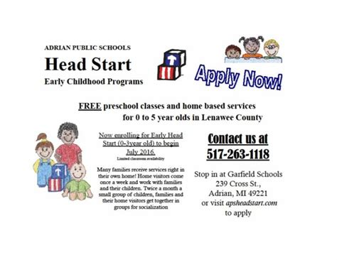 early start is now enrolling for ages 0 3 lenawee
