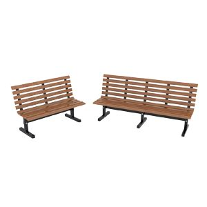 industrial park benches national cart products industrial grade park bench
