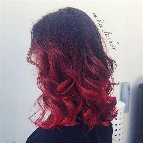 frizure ombre zadivljujuće moderne frizure ombre u crvenoj boji