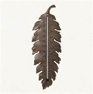 Back Door Rugs Iron Leaf Thermometer Eclectic Decorative Thermometers