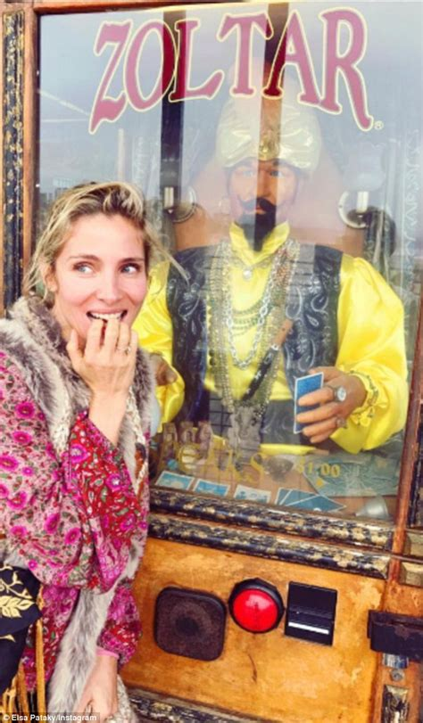 Zoltar A Novelty That Tells Your Fortune And Costs A Small Fortune by Elsa Pataky Poses With A Hilarious Zoltar Fortune