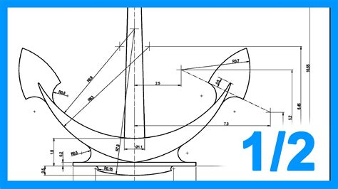 dibujar planos 2d autocad 1 2 ejercicio paso a paso dibujando ancla 2d