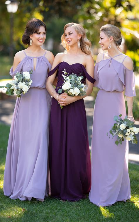 chiffon bridesmaid dress  flutter sleeves sorella vita