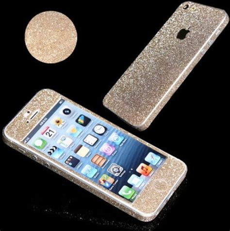 Sticker Glitter Iphone 5 5s bol xssive glitter sticker voor apple iphone 5 of
