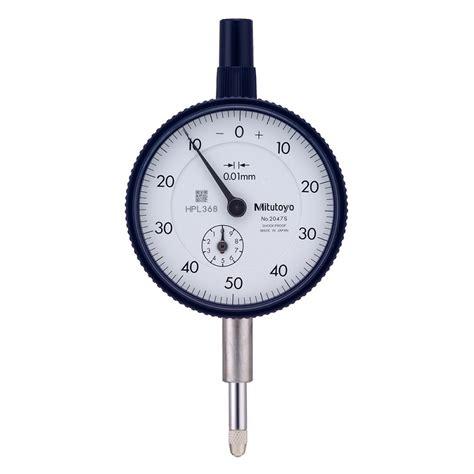 Indicator Mitutoyo 10mm Terlaris mitutoyo 2047sb indicator 10mm 0 50 0 flat back