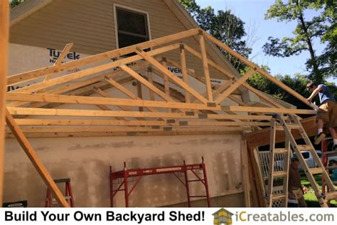 Pre Made Shed Trusses by Pictures Of Sheds With Garage Doors Garage Door Shed Photos