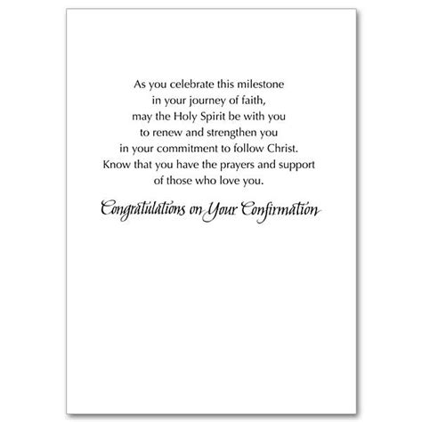 Confirmation Congratulations Letter blessings on your confirmation day confirmation card