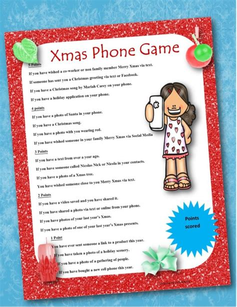 christmas games for groups phone