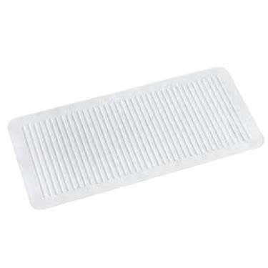 Rubber Bathroom Mats by Croydex Ridged Rubber Bath Showering Mat White At