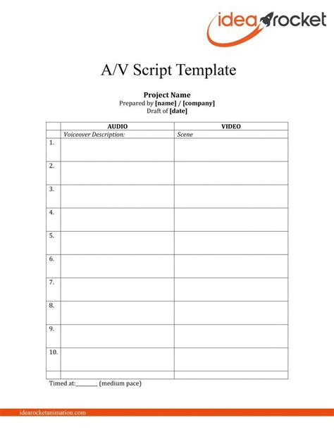 scripts template this script free script template