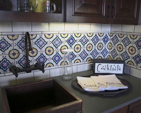 mexican tile backsplash kitchen mexican tile backsplash new home ideas pinterest