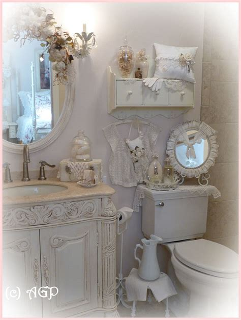 Chic Bathroom Accessories Shabby Cottage Chic Shelf And More Bathroom Makeover Pics