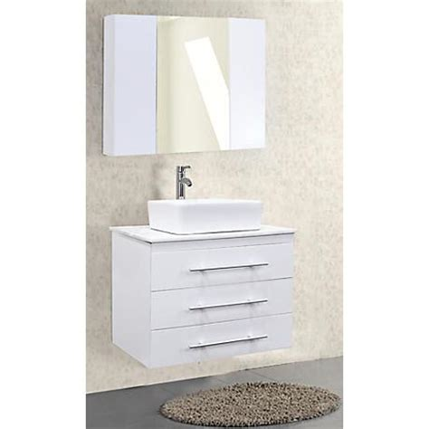 30 wide bathroom vanity portland white 30 quot wide single sink floating vanity set
