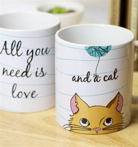 Cat Mug 1 personalised and a cat mug by beecycle