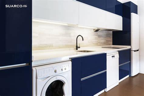 cocina moderna azul brillo cocinas suarco fabrica