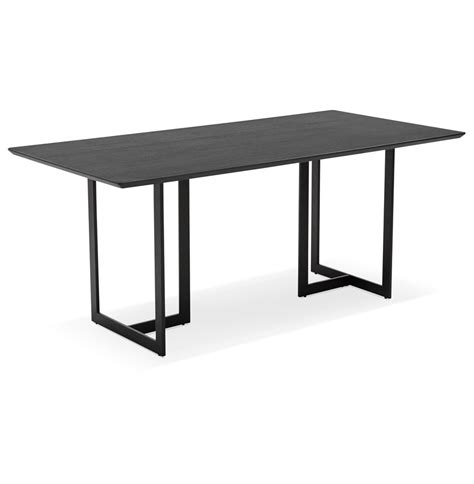 table bureau design table design titus en bois noir bureau moderne 180x90 cm
