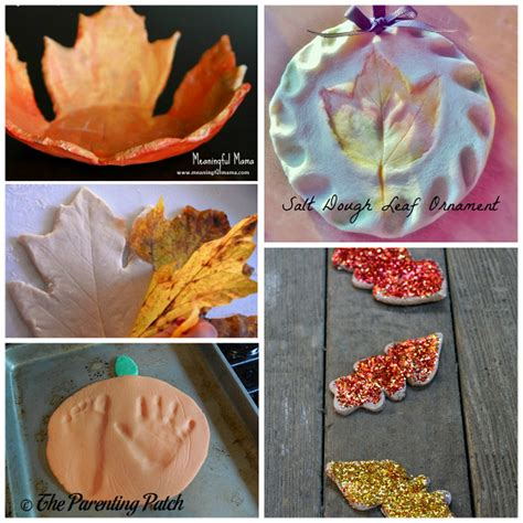 craft idea for fall salt dough ornaments craft ideas crafty morning