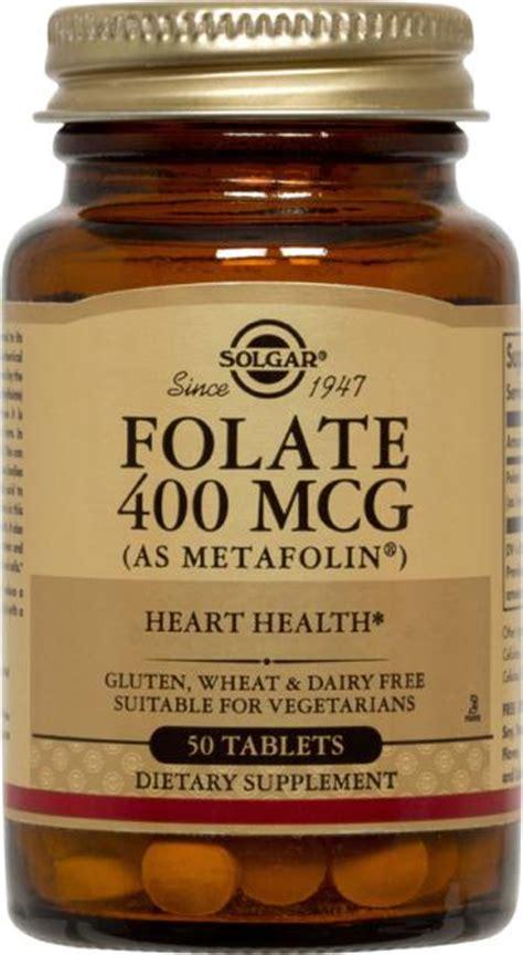 Mcg For Methhet Detox Of Folate Supplements by Solgar Folate 400mcg As Metafolin Tablets 100 Ibuy