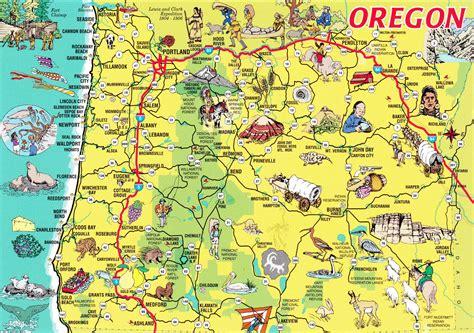 oregon on map state maps galore or de ak vt ca deltiolog