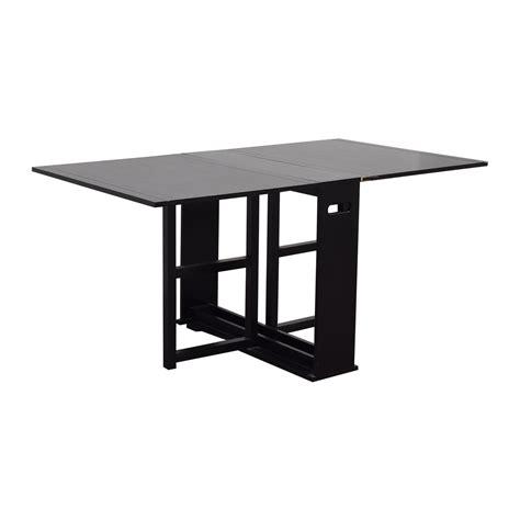 75 Off Crate Barrel Crate Barrel Span Black Gateleg Span Black Gateleg Dining Table