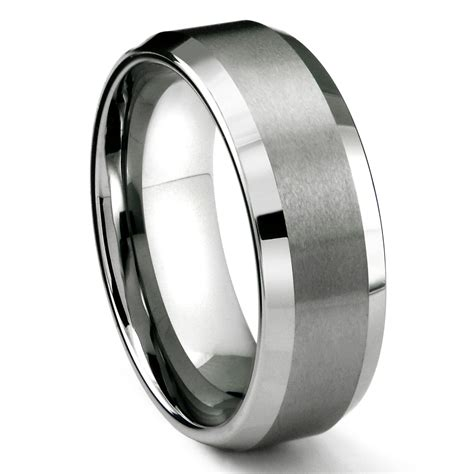 Wedding Bands Tungsten by Rasoret Tungsten Carbide Ring In Comfort Fit And Satin Finish