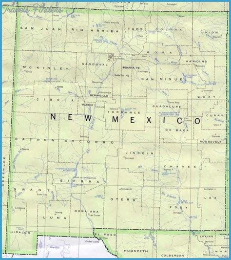 unm map new mexico map travelsfinders