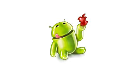wallpaper apple eating android android eating apple hd wallpaper wallpaperfx