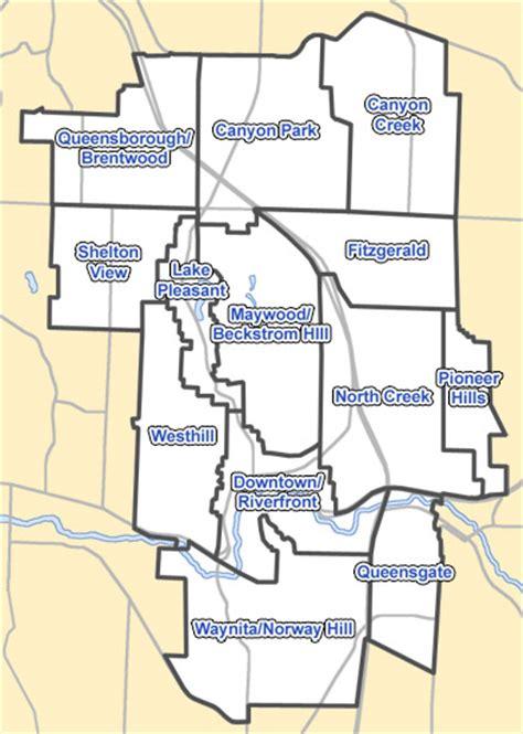 seattle map bothell neighborhoods of bothell washington