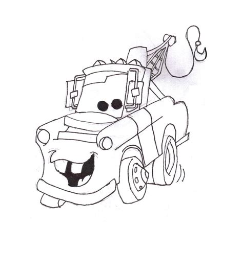 mater from cars coloring pages coloring pages