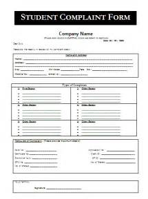 student complaint form a to z free printable sample forms