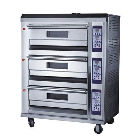 Gas Baking Oven Low Pressure 3 Deck 6 Loyang Rfl 36ss 3 decks 6 trays 350 176 c 225w all s s professional gas baking oven tt o38f