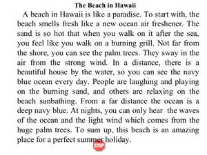 Essay About Hawaii by Writing I Week 6 2 Descriptive Paragraphs2