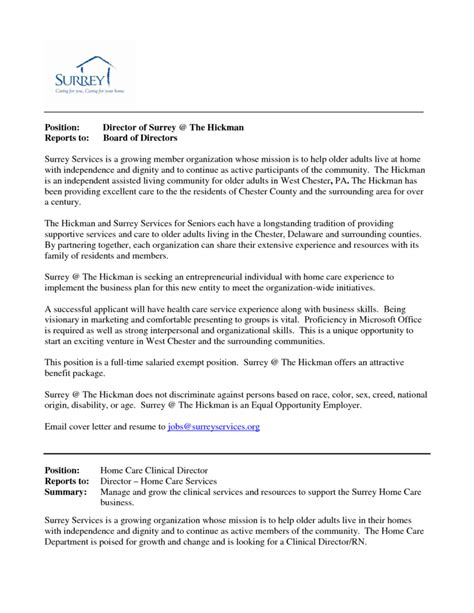 sle cover letter for non profit non profit board of directors resume sle 28 images